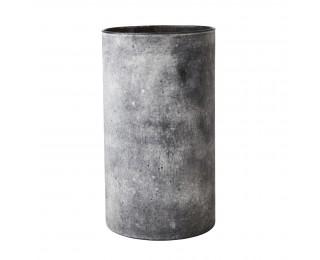 obrázek Skleněná váza betonového vzhledu šedá