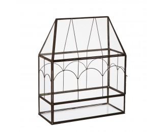 obrázek Mini skleník černý kov