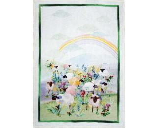 obrázek Lněná kuchyňská utěrka ovečky