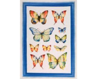 obrázek Jarní lněná kuchyňská utěrka motýli