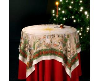 obrázek Vánoční lněný ubrus Betlém
