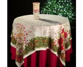 obrázek Vánoční lněný ubrus vánoční hvězda