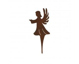 obrázek Zápich anděl kovový do truhlíku