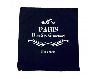 obrázek Povlak na polštář lněný černý Paris