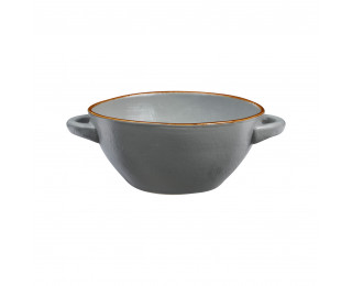 obrázek miska na polévku šedá vintage 15 cm
