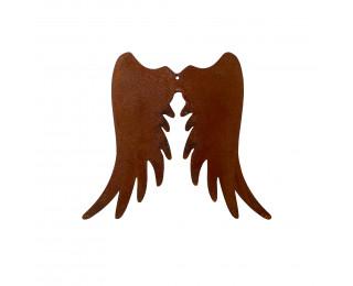 obrázek Kovová andělská křídla s rezavou patinou 15 cm