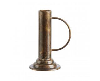 obrázek antik svícen v bronzové barvě s držadlem
