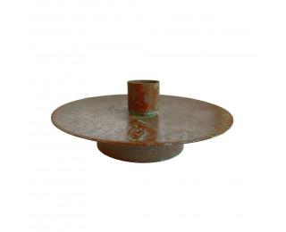 obrázek Hnědý kovový svícen na klasickou svíčku